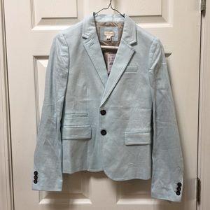🆕J Crew ice blue blazer SZ 2